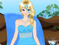 play Waterfall Princess Dress Up