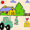 play The Farmer And The Tractor Coloring