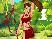 play Cute Tribal Huntress Dress Up