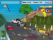 Y8, A10 Road accident cleaning Game