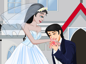 play Bride And Groom Kissing