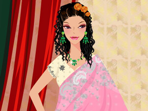 play Indian Bride Dress Up