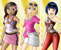 Dress Up Lea Lilou And Lee game