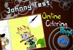 play Johnny Test Online Coloring Page