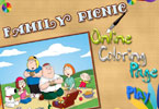 play Family Picnic Online Coloring Page