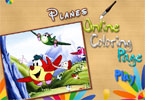 play Planes Online Coloring Page