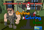 play Adventures Of Billy And Mandy Online Coloring
