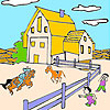 play Big Farm And Horses Coloring