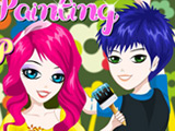 play Happy Painting Dress Up