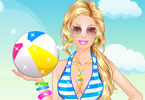 play Barbie At The Beach Dress Up