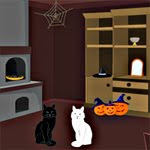 play Black Cat Trick Or Treat Escape