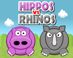 hippos vs rhinos walkthrough, guide and cheats