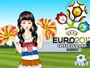play Euro Football 2012 Cheerleader Dressup
