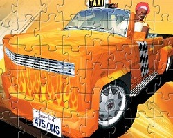 play Crazy Taxi Jigsaw