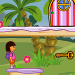 play Dora Flower Basket