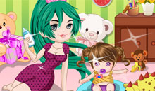 Cute Baby Sitter Dress Up game