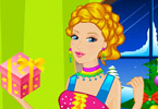 play Barbie Elf Party Dress Up