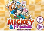 play Mickey And Friends Memory Cards