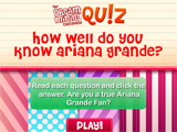 play Quiz- Do You Know Ariana Grande?