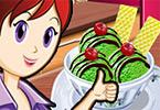 play Sara Cooking Class Green Tea Ice Cream