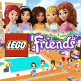 lego friends pool party game