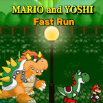 Mario And Yoshi Fast Run game