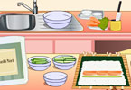 play Mia Cooking Sushi Rolls