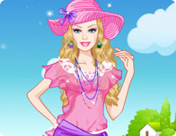 play Barbie Summer Break Dress Up