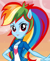 play Equestria Girls Rainbow Dash Dress Up