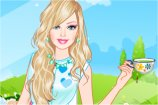 play Barbie Tea Time Dress Up