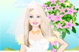 play Barbie Seaside Wedding Dress Up