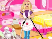 play Barbie Cleaning Slacking