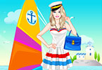 play Barbie Navy Style Dress Up