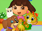 play Dora Pets Care Fun