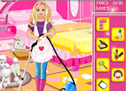 play Barbie-Cleaning-Slacking