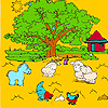 play Big Farm Tree And Animals Coloring