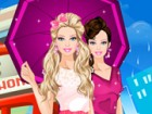 play Barbie In The Rain Dress Up