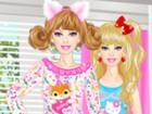 play Barbie Pajama Party Dress Up