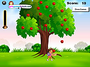 play Dora Apples Catching