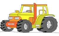 play Tractor Coloring