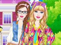 play Barbie Sorority Girl Dress Up
