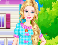 play Barbie Sorority Girl Dress Up