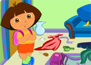 play Dora Messy Room