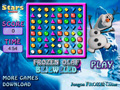 play Frozen Olaf Bejeweled