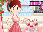 Sara Cooking Strawberry Parfait game