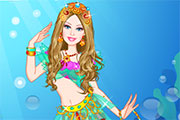 play Barbie Mermaid Princess Dress Up