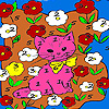 play Kitty In The Flower Island Coloring