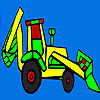 play Colorful Village Tractor Coloring