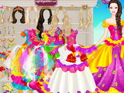 play Barbie Colorful Bride Dress Up
