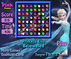 play Princess Elsa Bejeweled